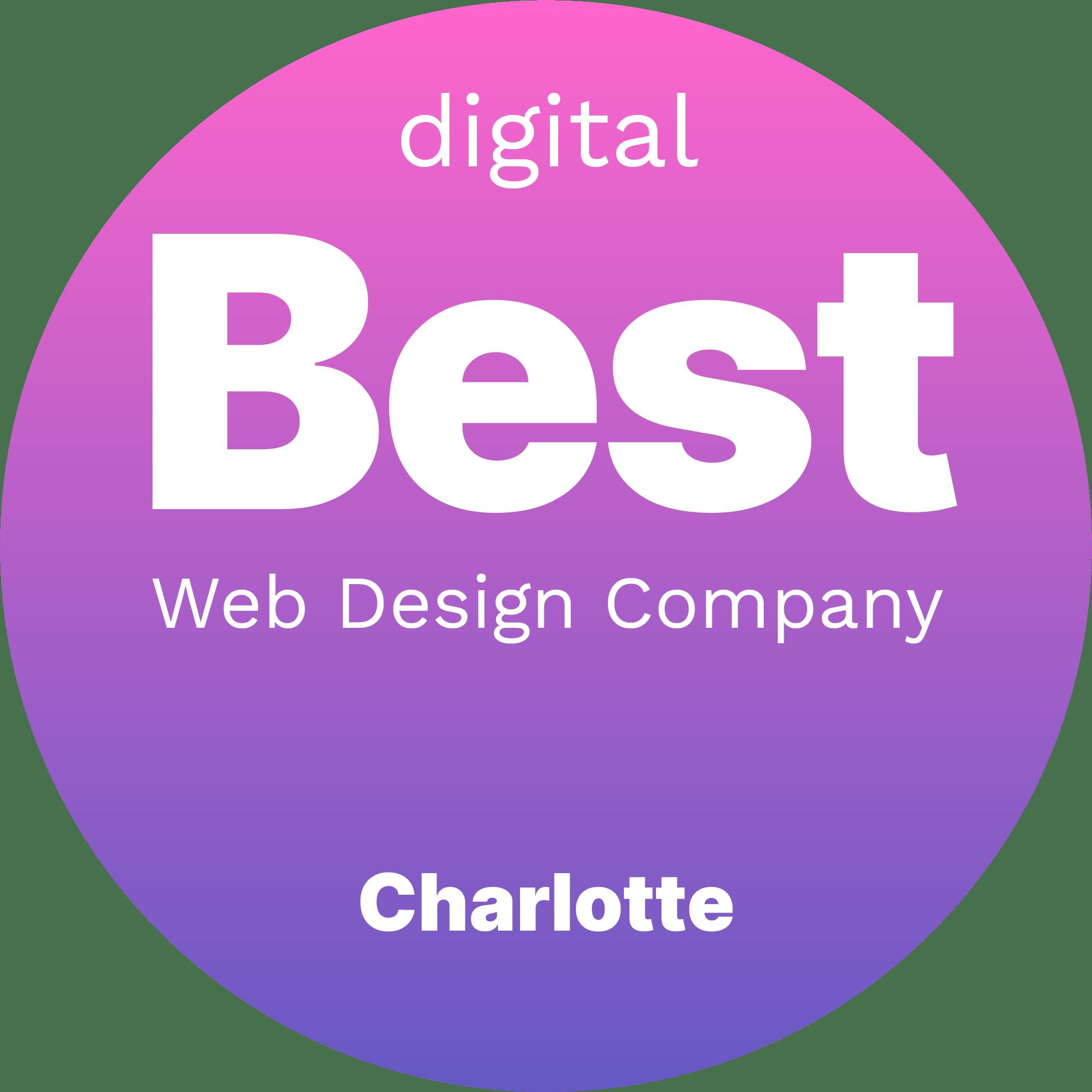 Best Web Design Companies in Charlotte Badge