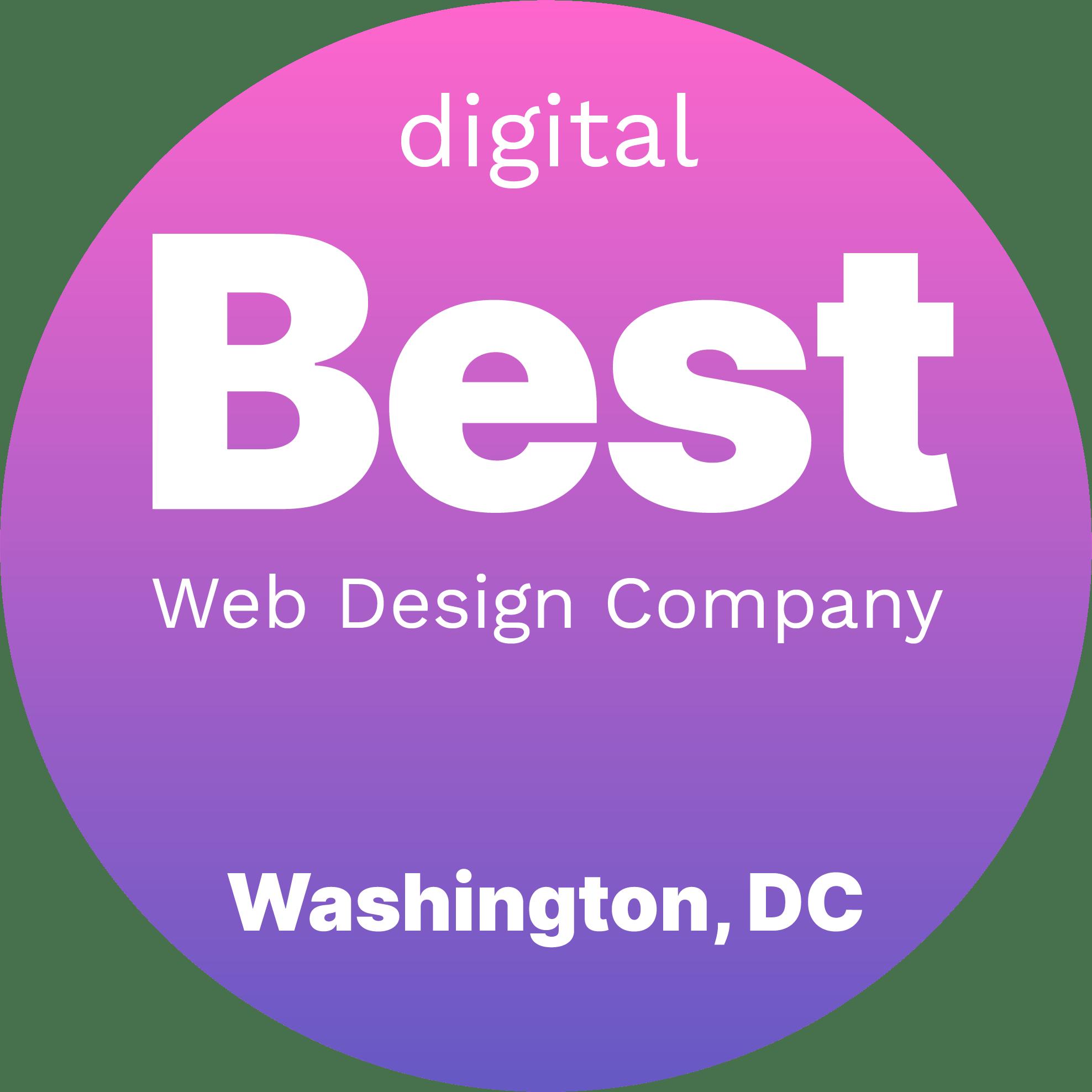 Best Web Design Companies in Washington, DC Badge