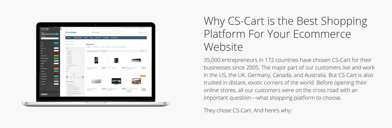 Why CS-Cart is best page screenshot via Digital.com