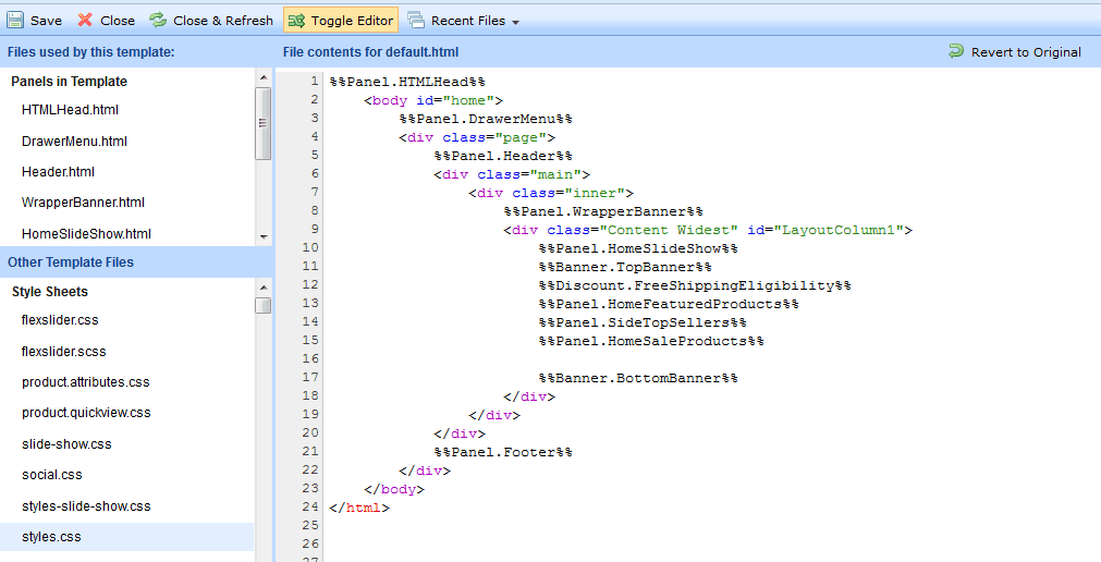 bigcommerce html css