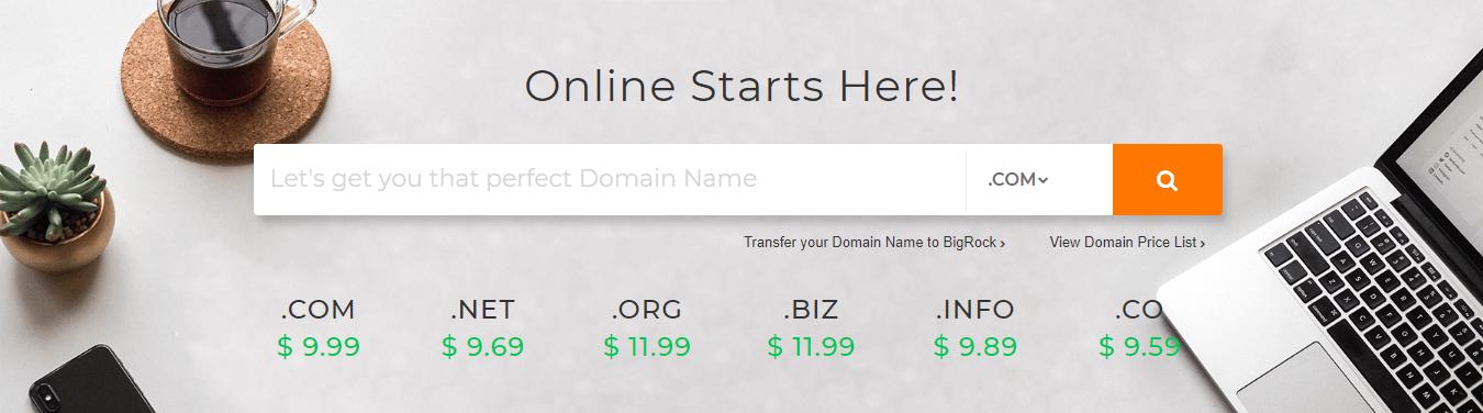 BigRock Domain Purchase