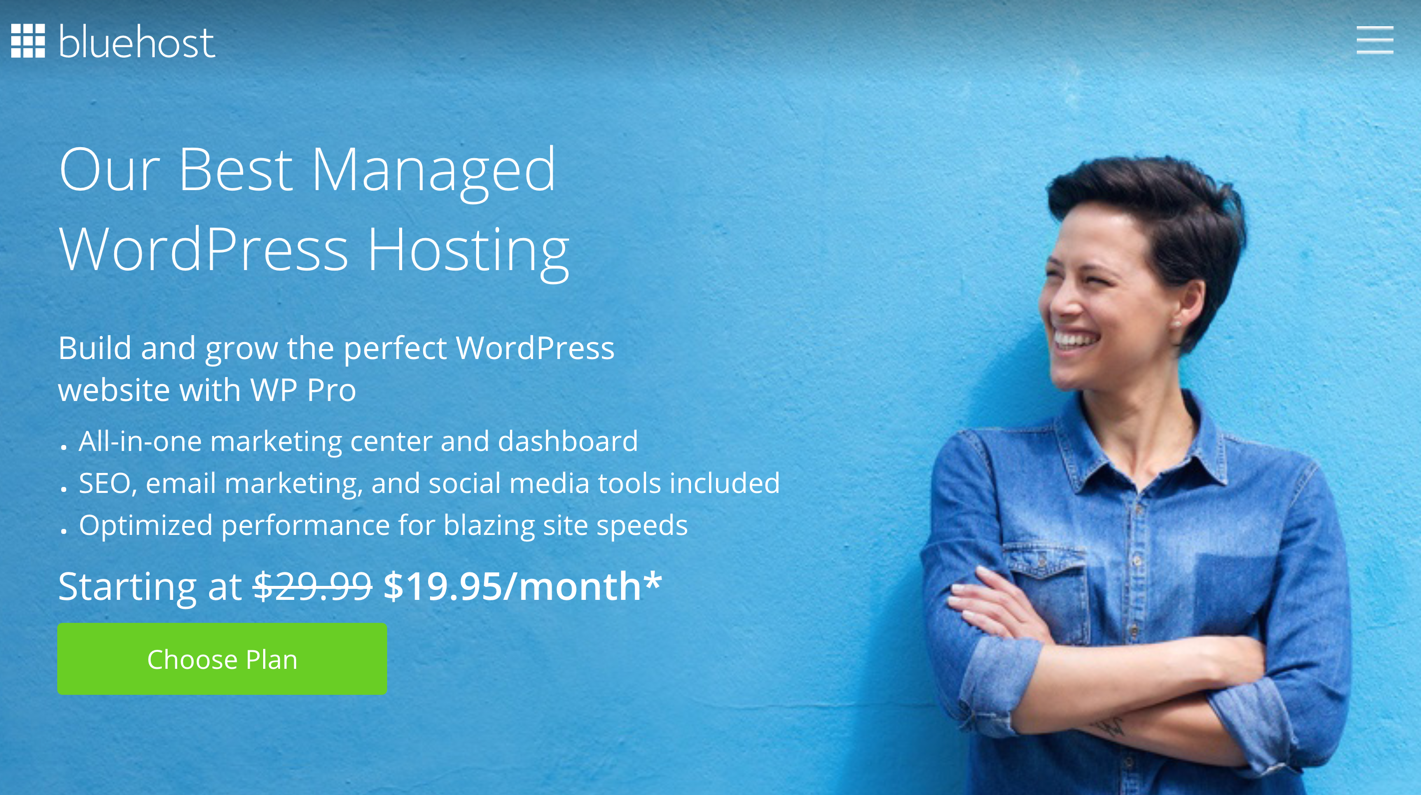 bluehost managed wordpress