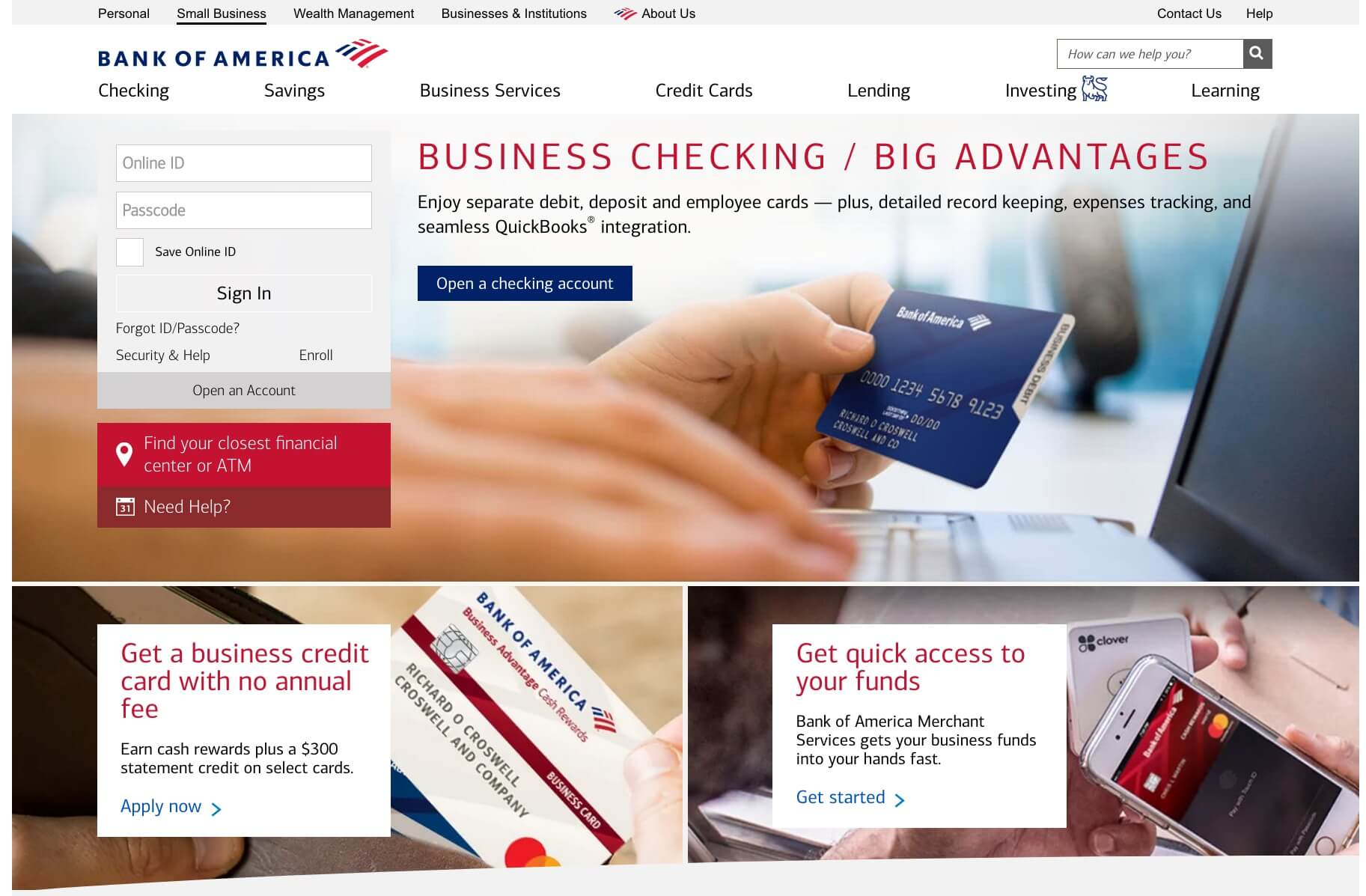 Bank of America business banking