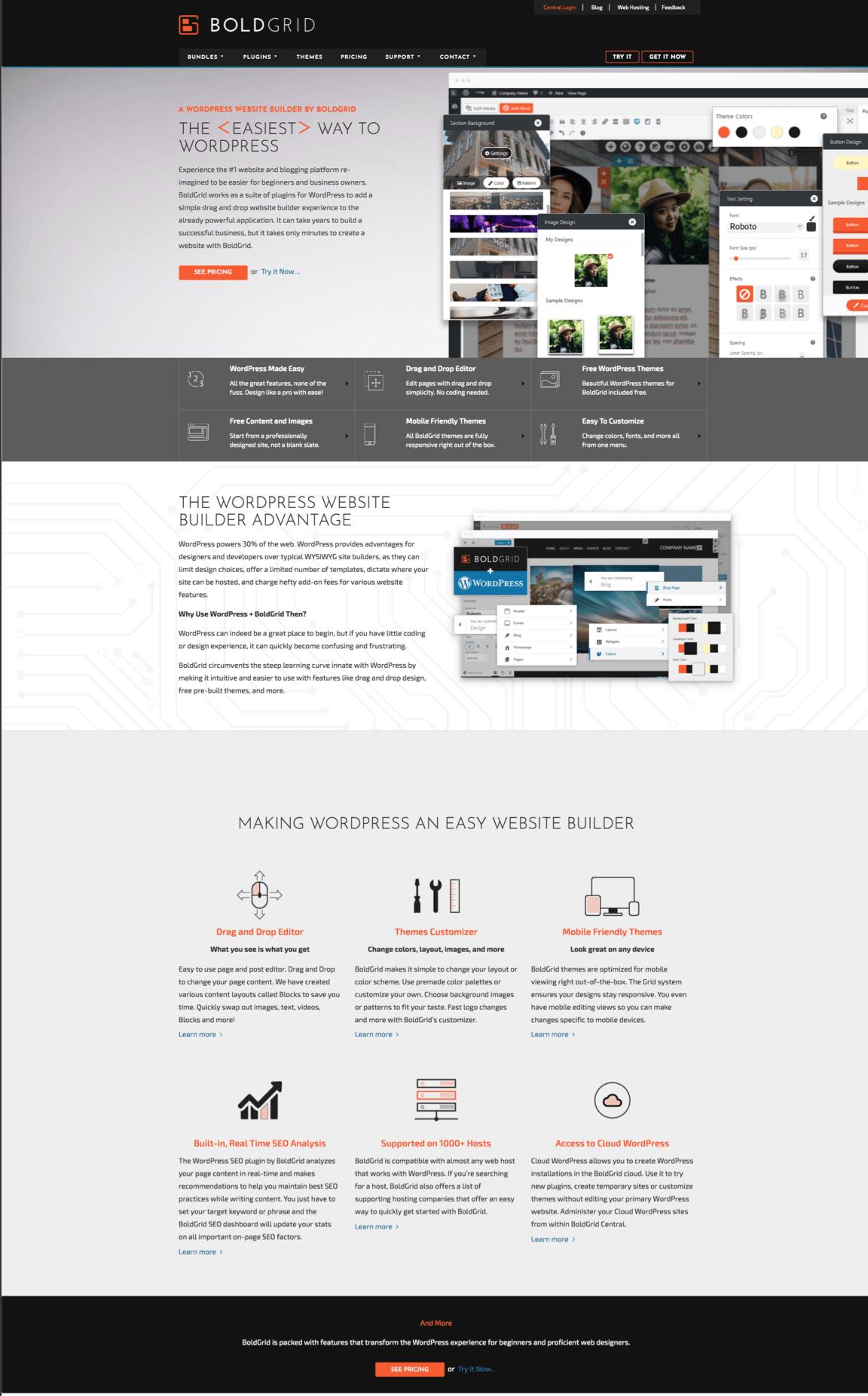boldgrid homepage