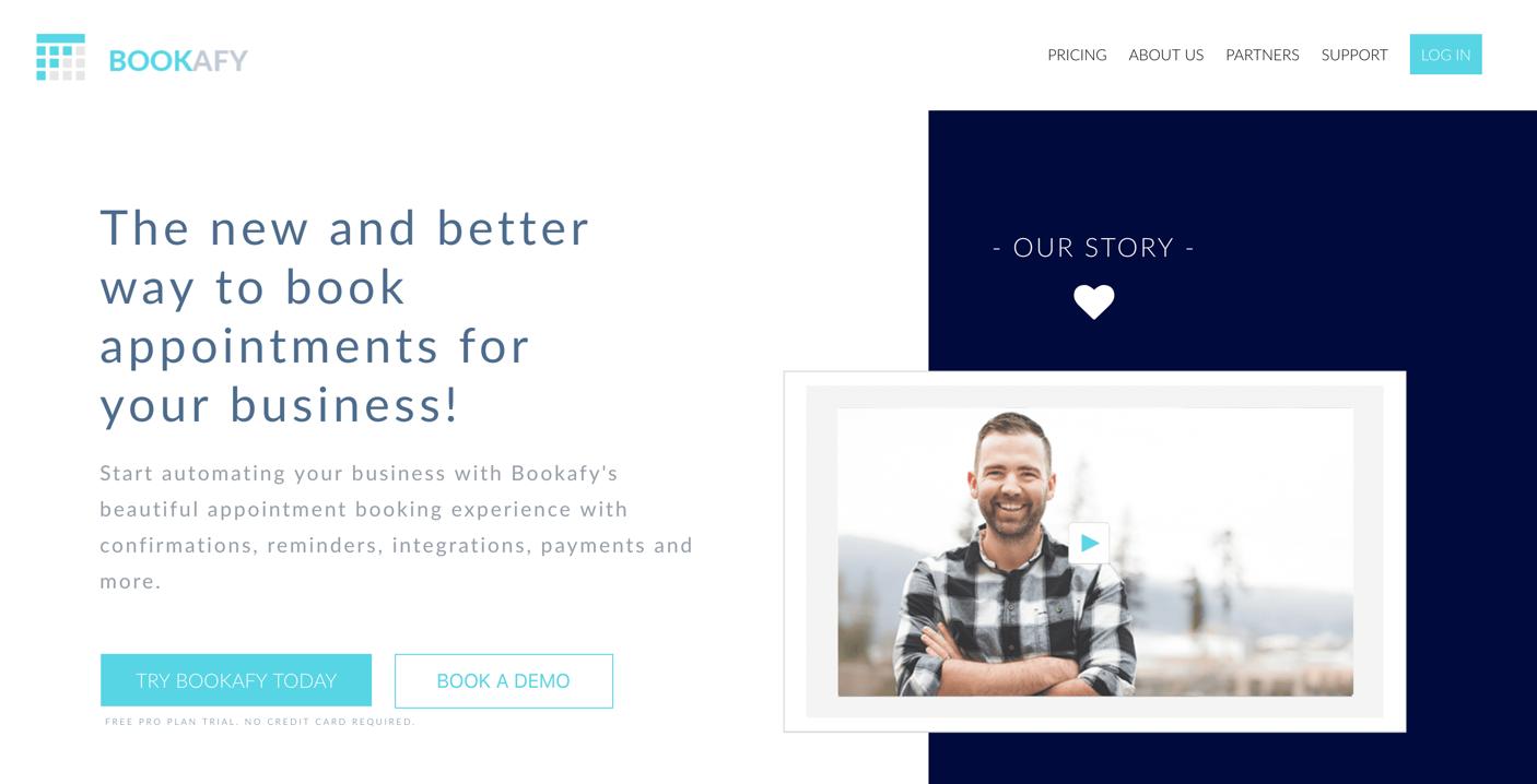 bookafy homepage