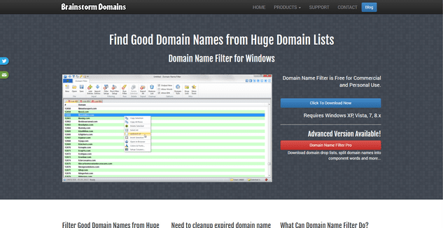 Brainstorm domain name generator