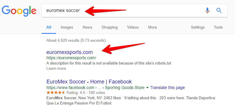 Google brand search