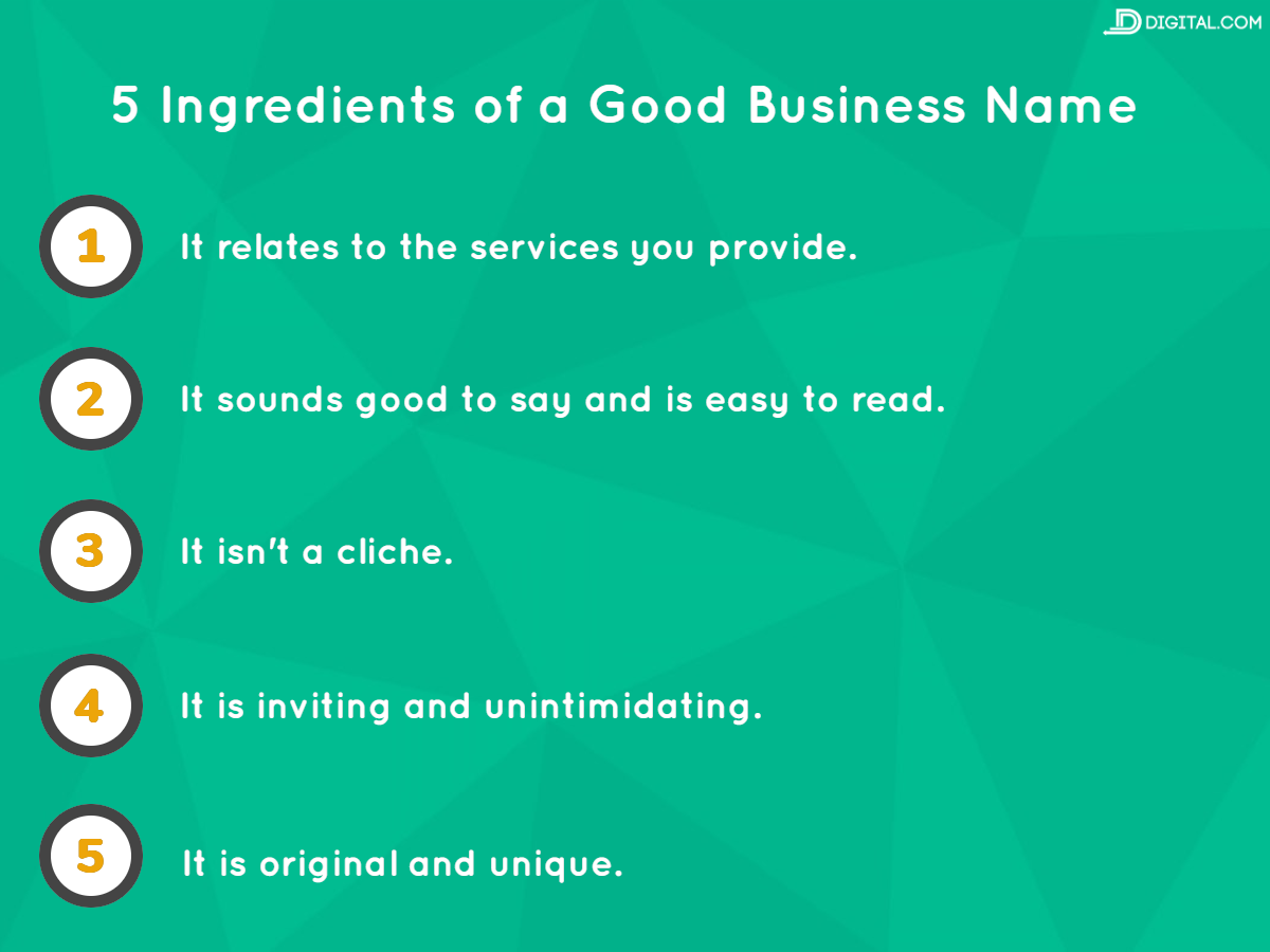 what makes a good business name