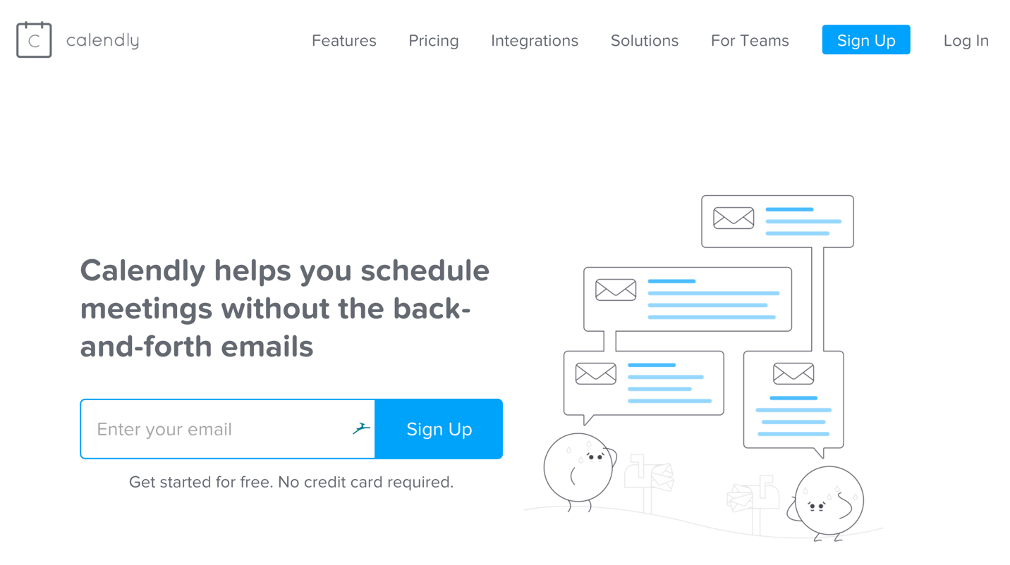 calendly homepage