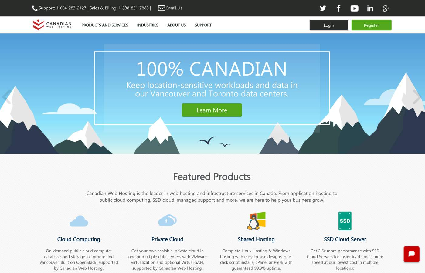 canadian web hosting review