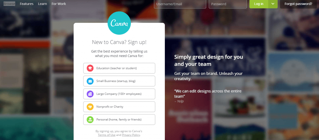 Canva is a helpful tool to help you create a SWOT analysis