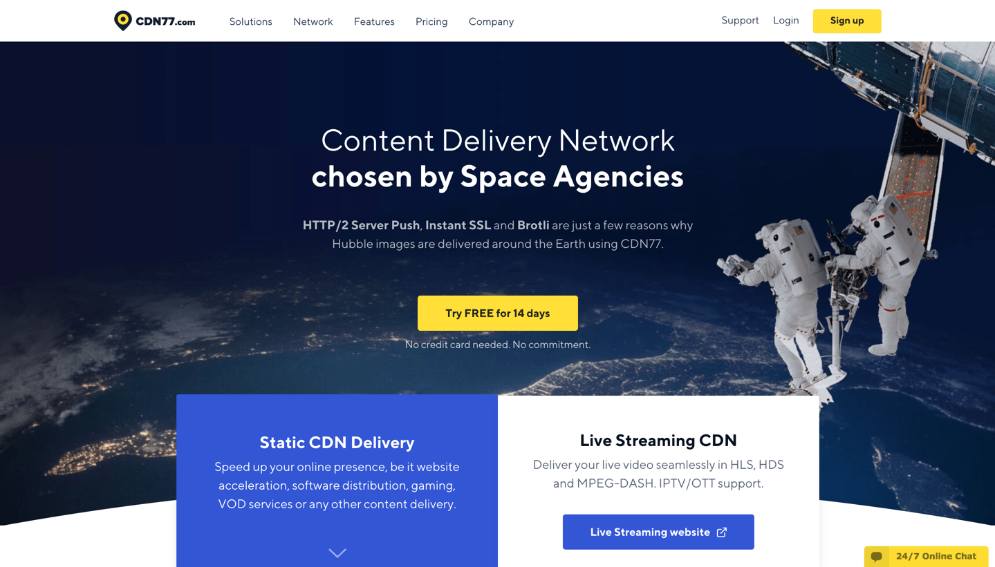 cdn77 homepage top
