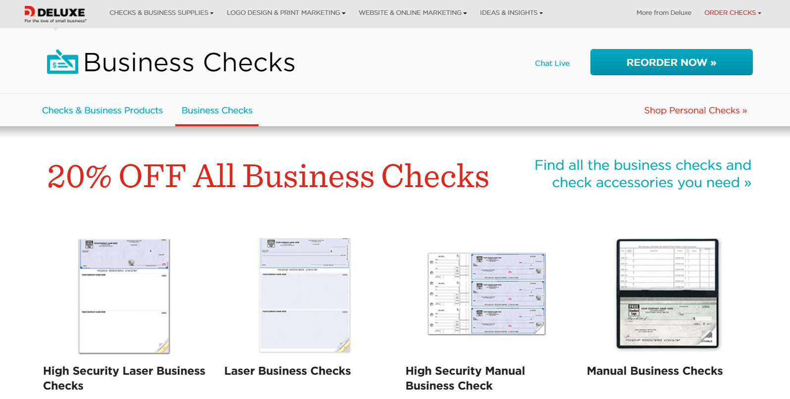 deluxe check printing