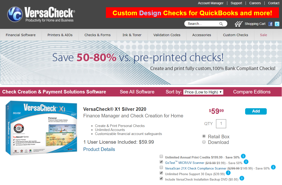 versacheck check printing