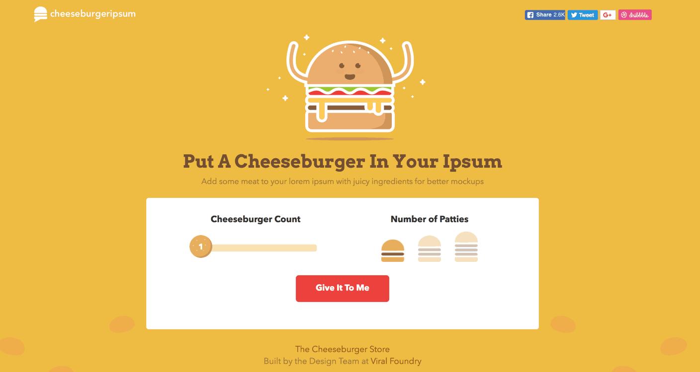 cheeseburger ipsum