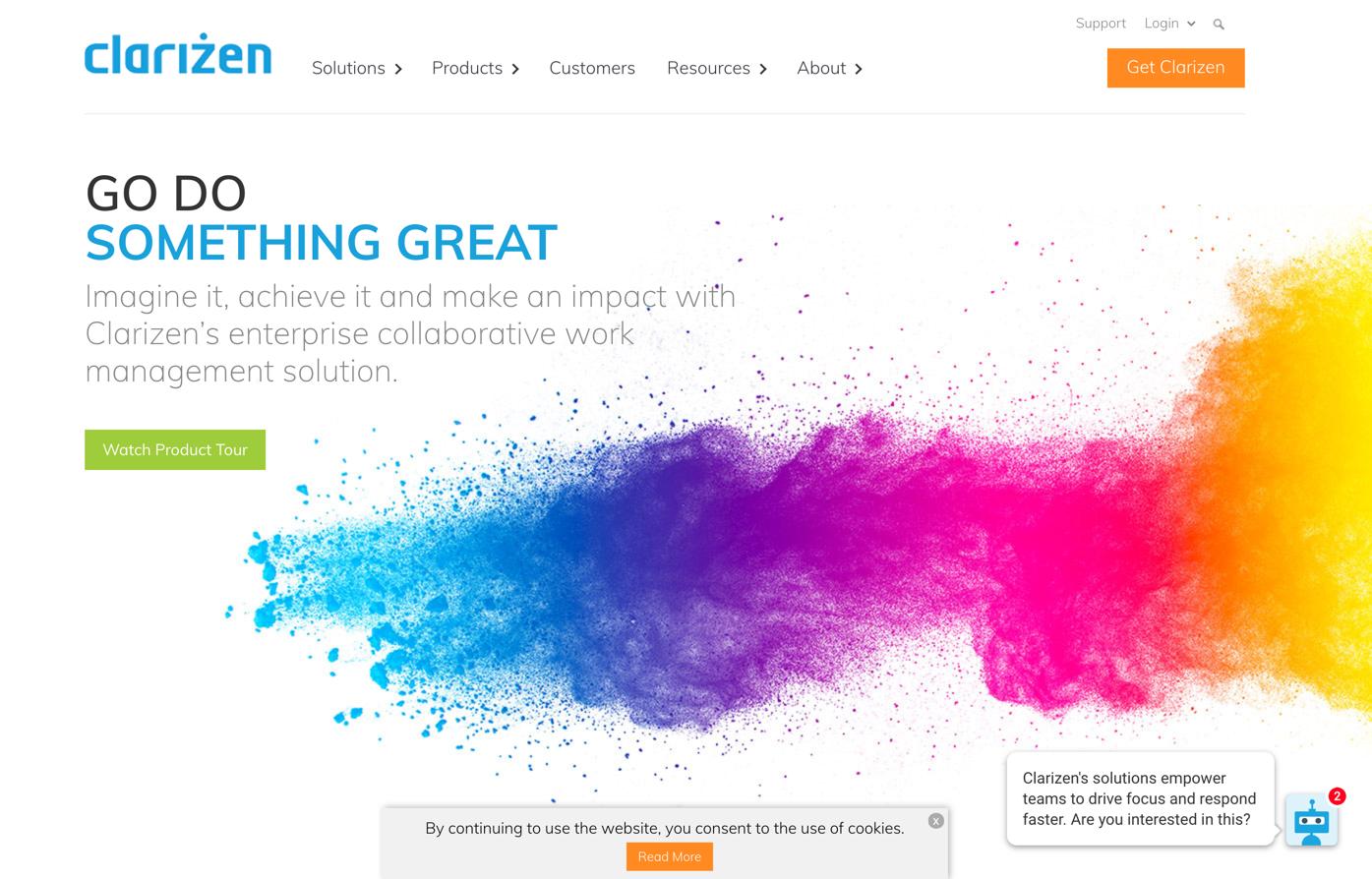 clarizen homepage