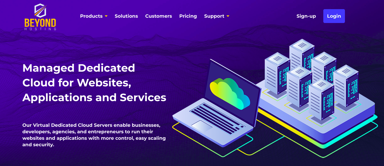 Beyond Hosting Cloud Screenshot
