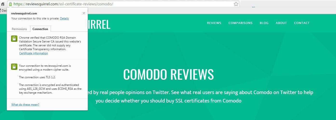 Comodo SSL review