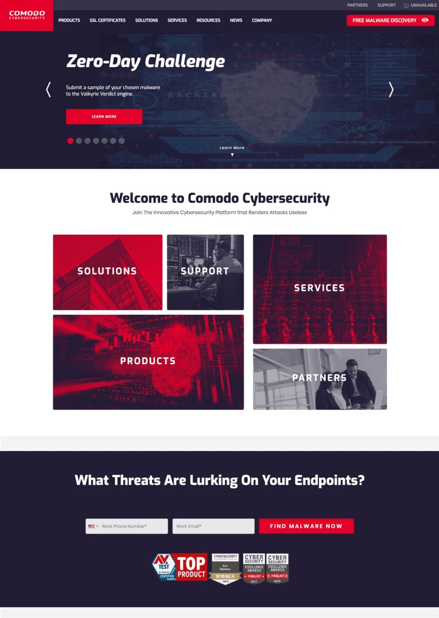 comodo homepage