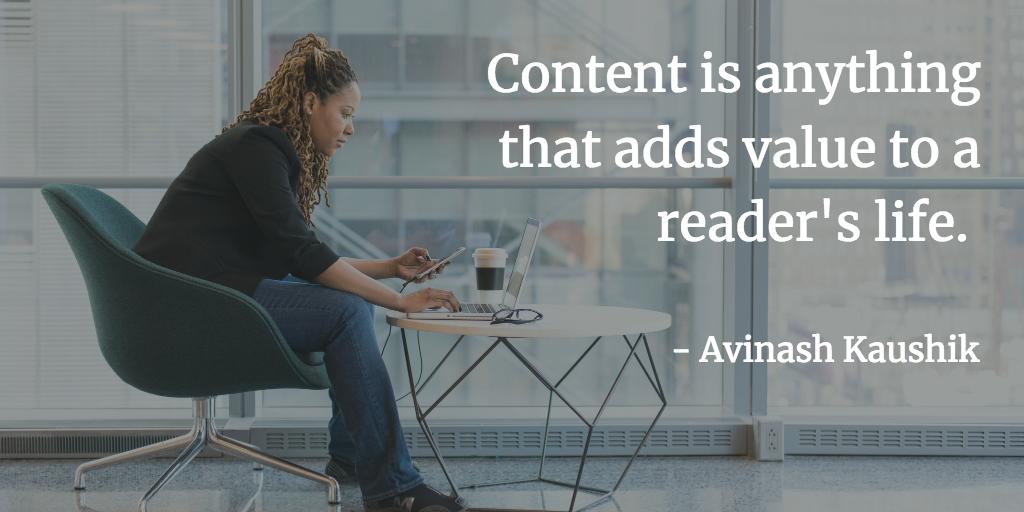 content adds value