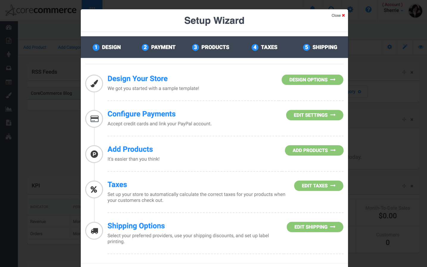 corecommerce wizard