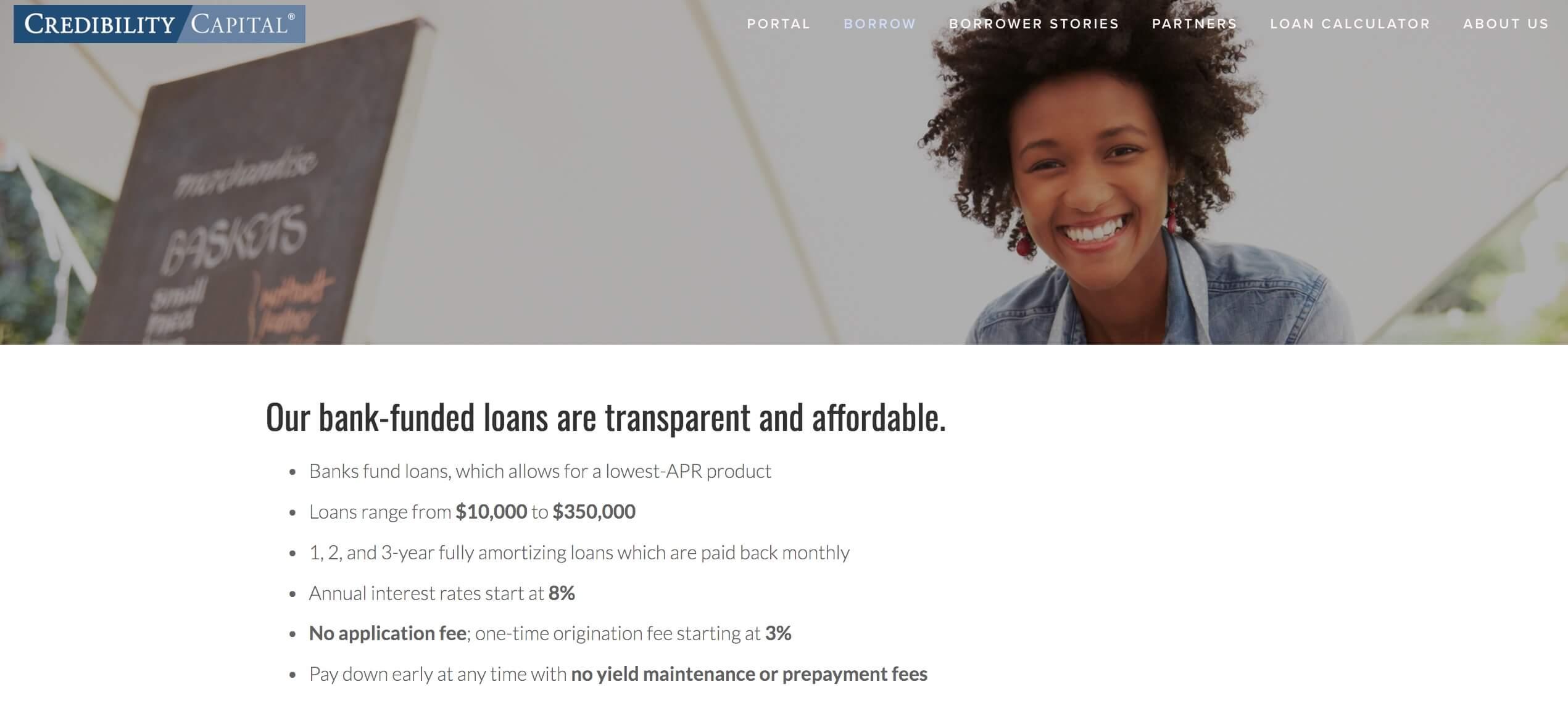 credibility capital loans