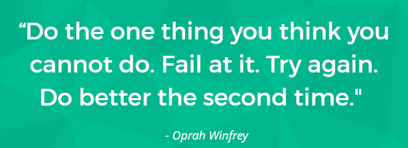 do the one thing you think you cannot oprah quote