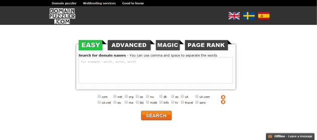 Domain Name Puzzler tool