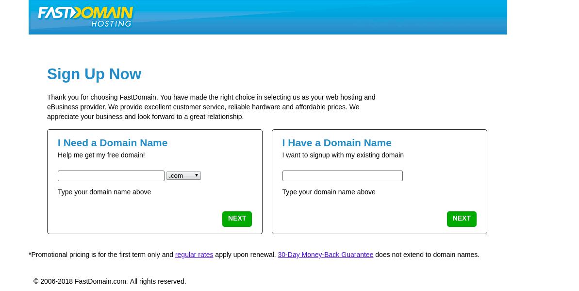 Fast Domain Domain Name Page Screenshot