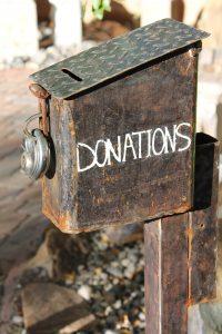 Donation tin