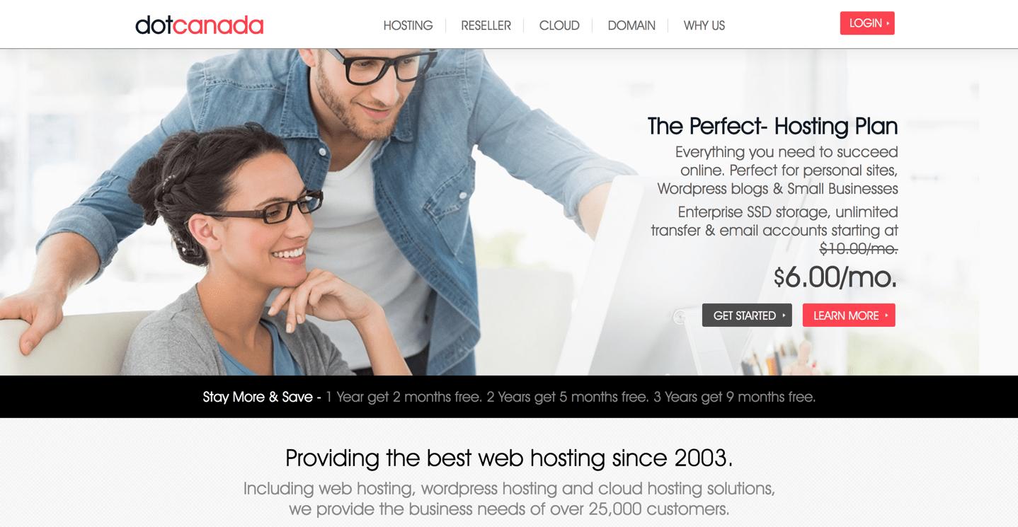 dotcanada homepage