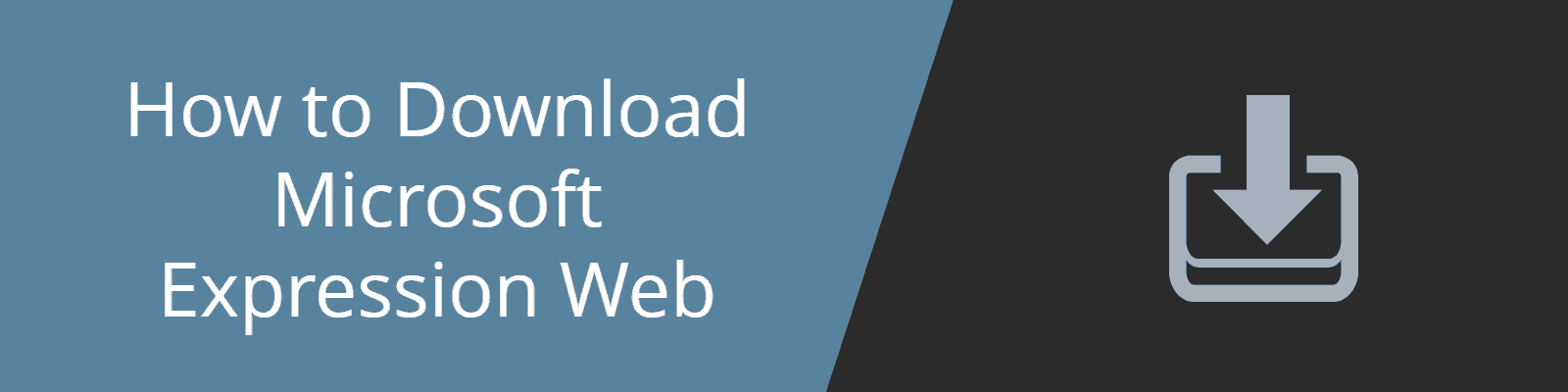download expression web