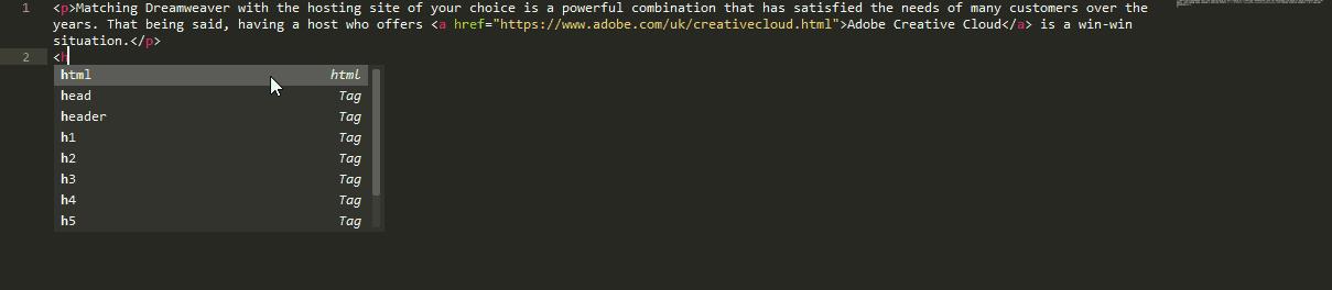 Code Hinting