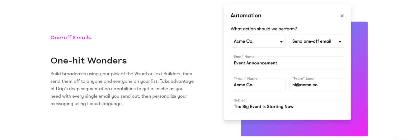 Drip Automation