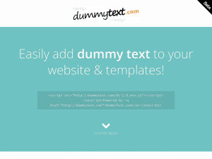 DummyText.com homepage