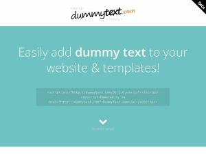 DummyText.com homepage