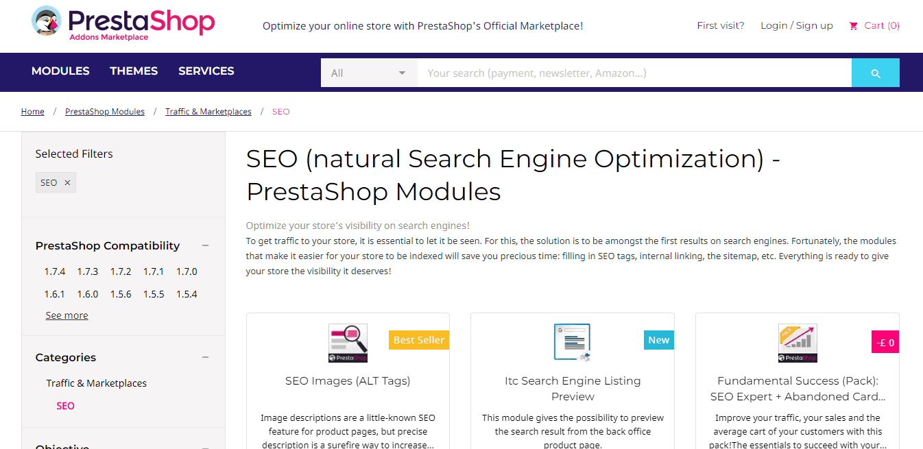 PrestaShop SEO Plugins