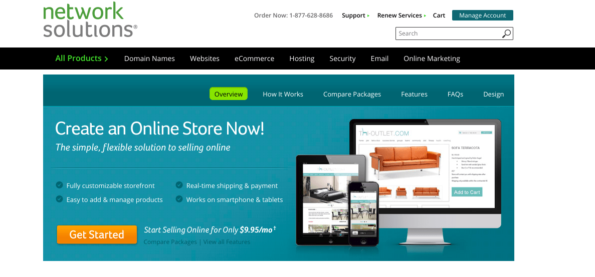 E-Commerce Screenshot Network Solutions