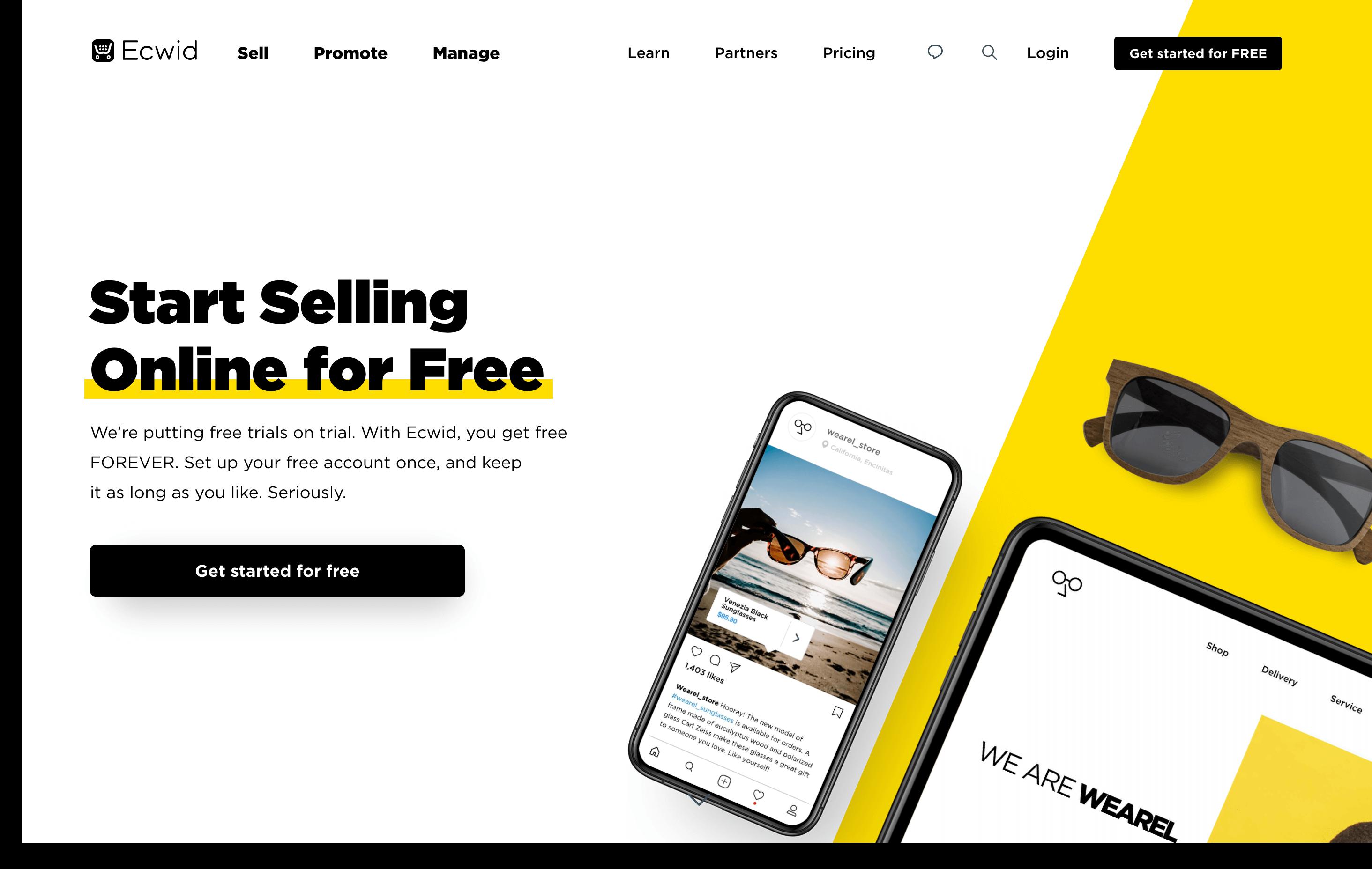 ecwid homepage