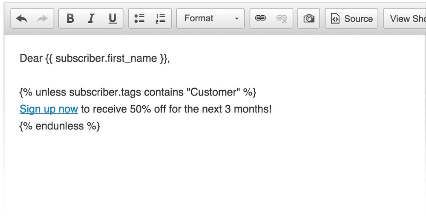 Drip email templating