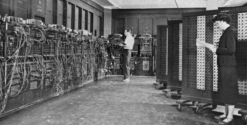 People Working With the ENIAC Computer