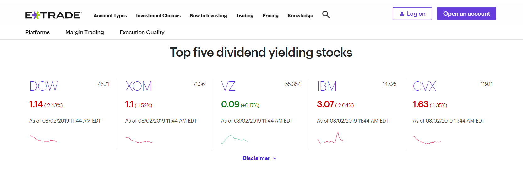 etrade online stock trading