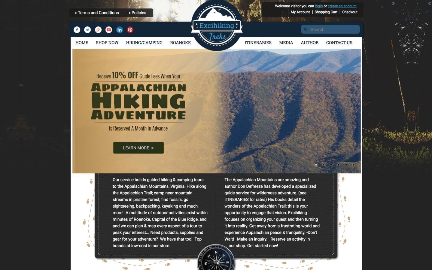 excihiking website