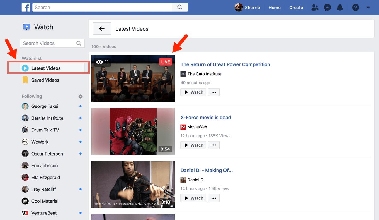 facebook watch live