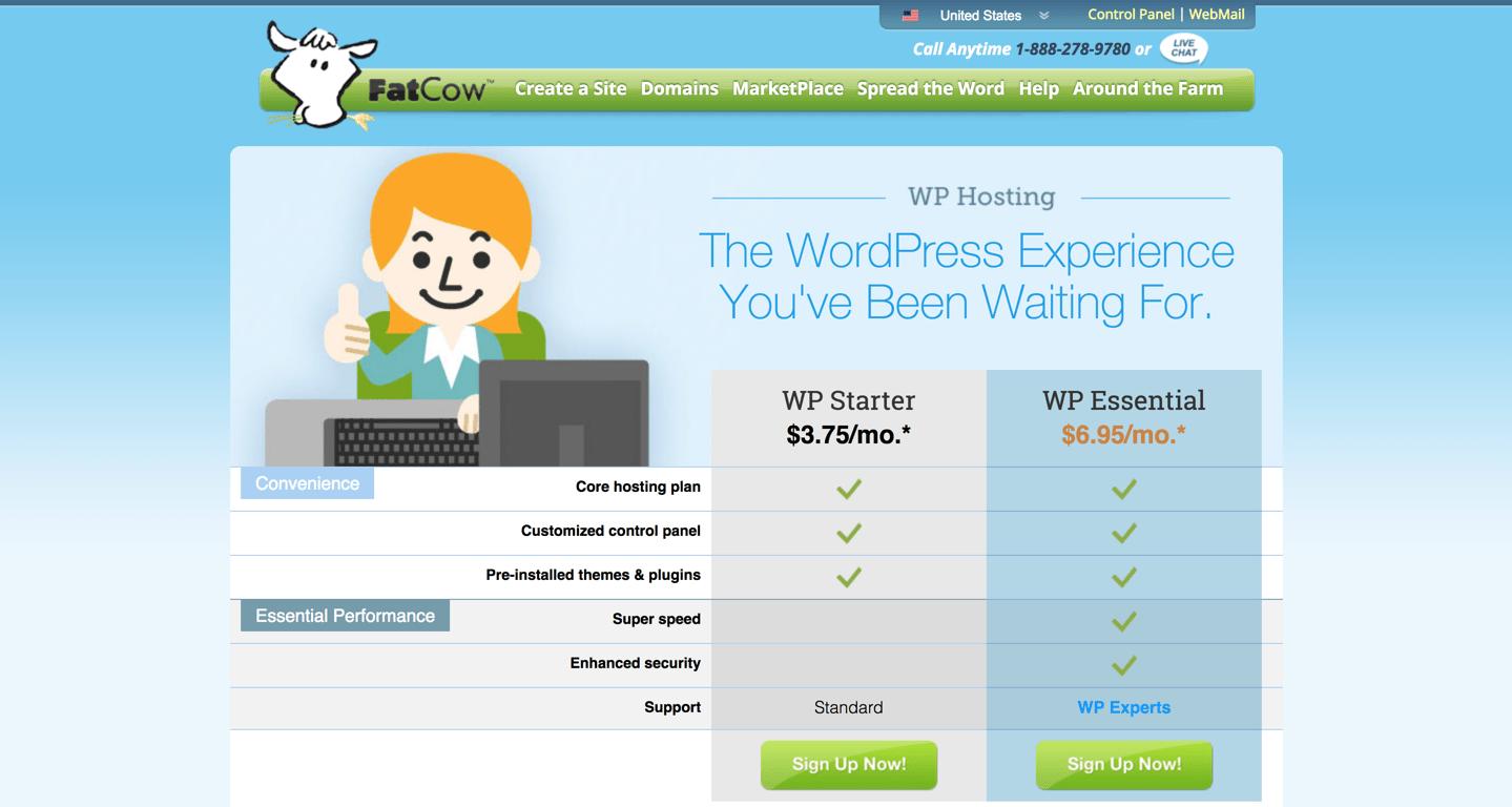 fatcow wordpress