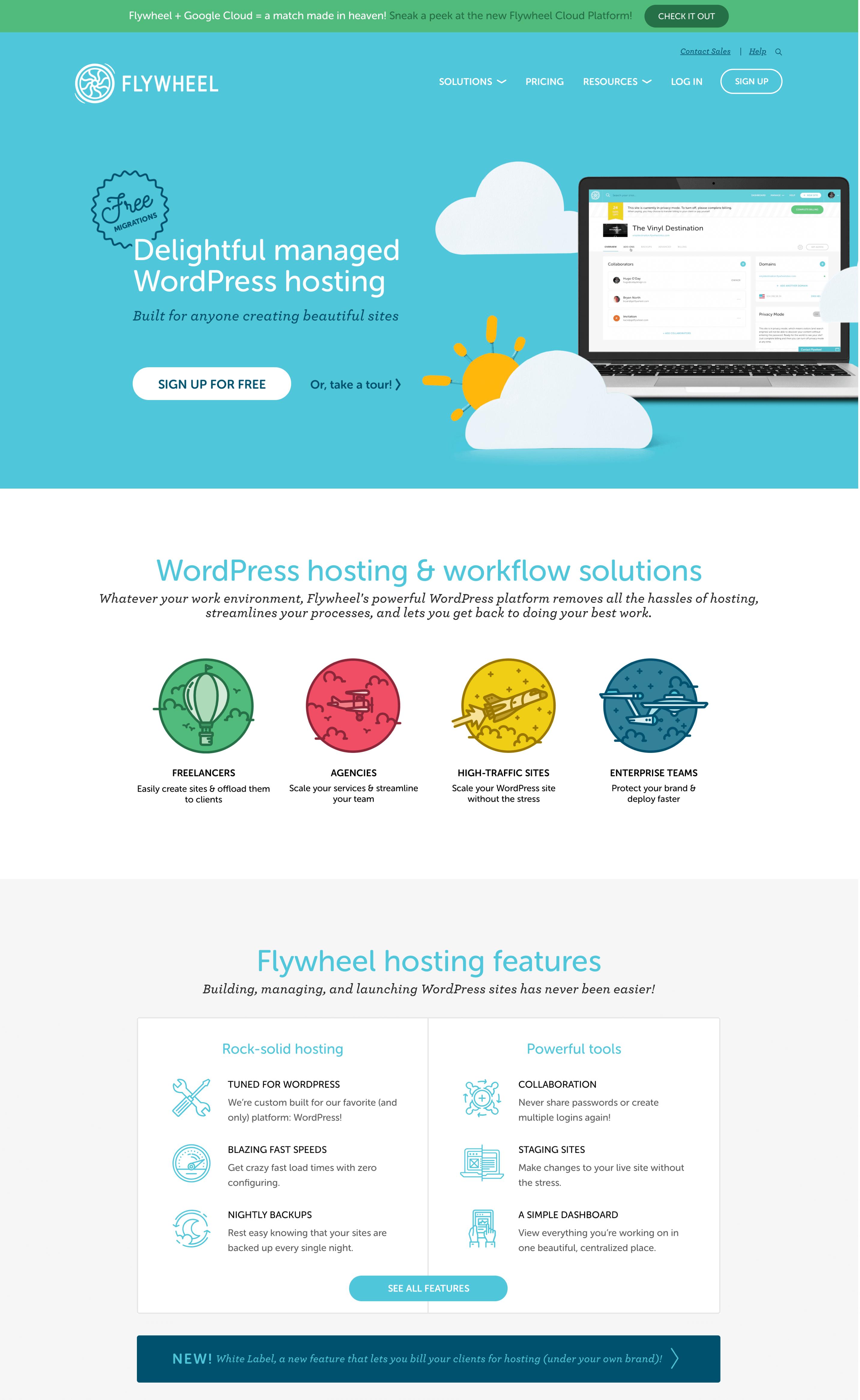 flywheel hosting website