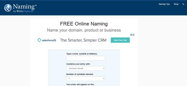 Free business naming tool