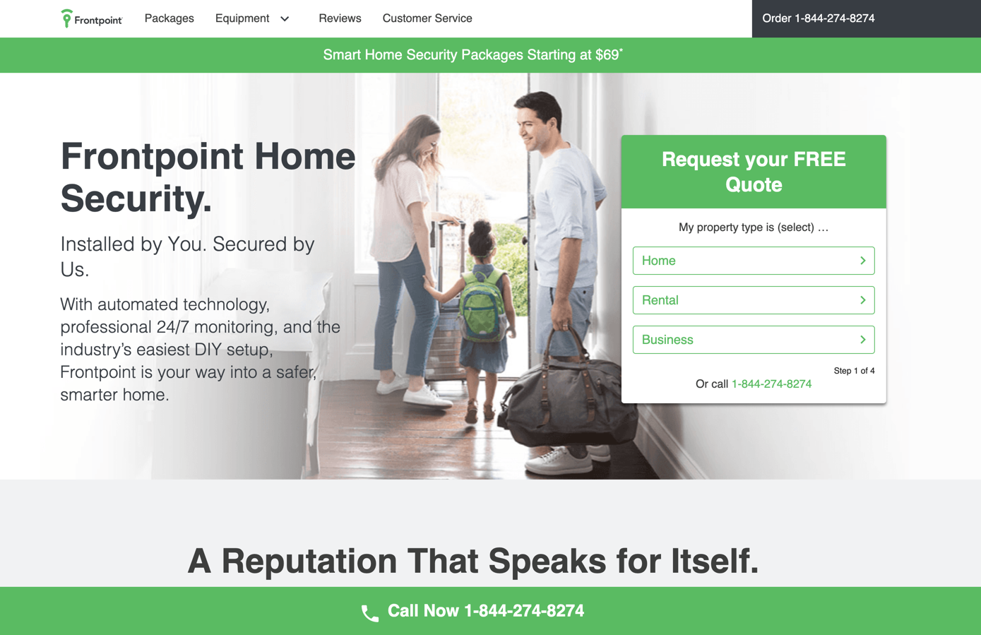 frontpoint homepage