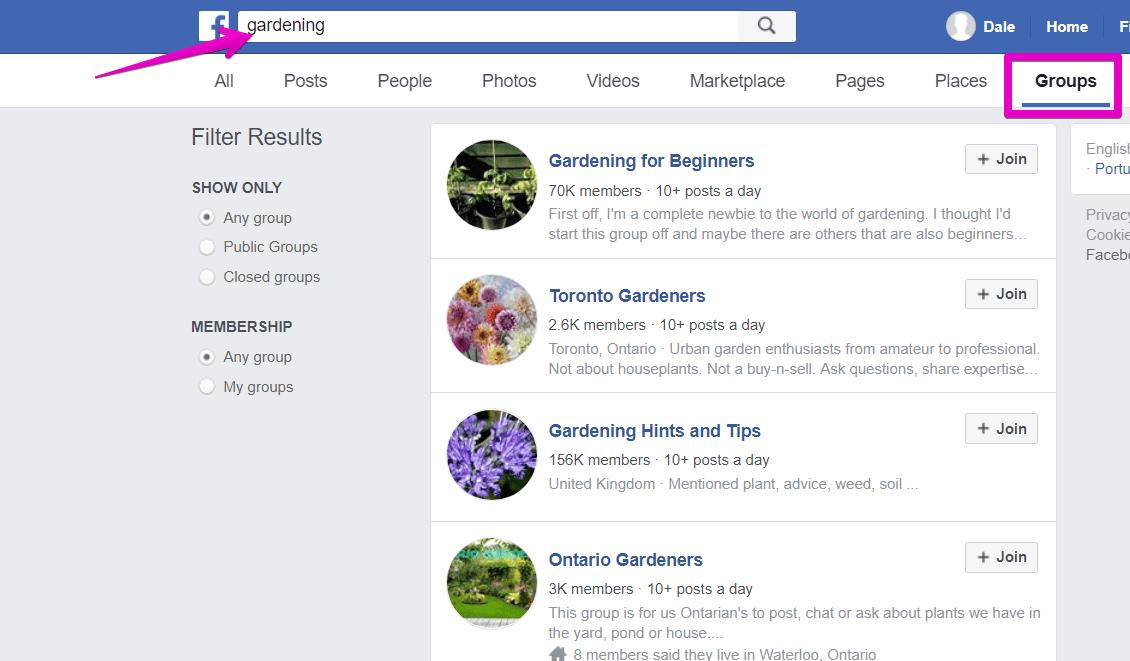 gardening groups facebook