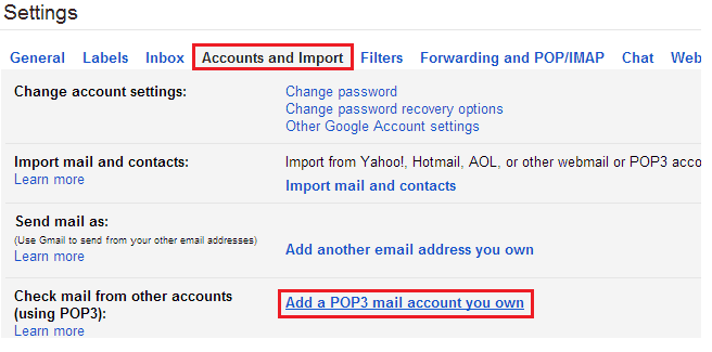 add pop3 account gmail